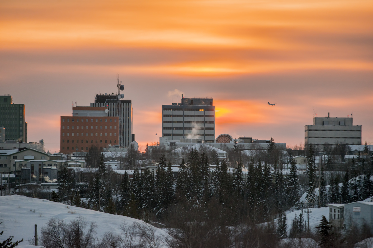 Yellowknife Winter Skyline